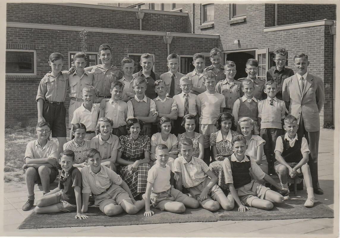 Jaap Schot op klasfoto op lagere school