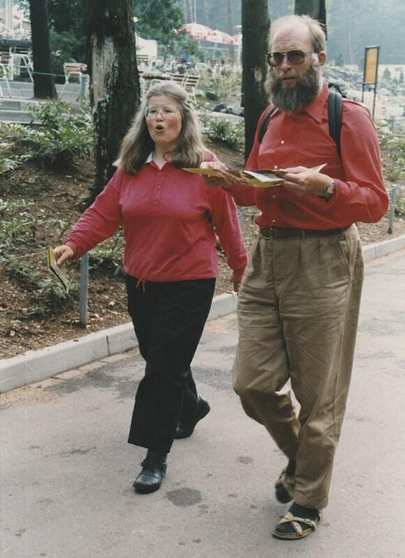 Maria en Jaap Schot in Burgers Zoo Arnhem juni 1990