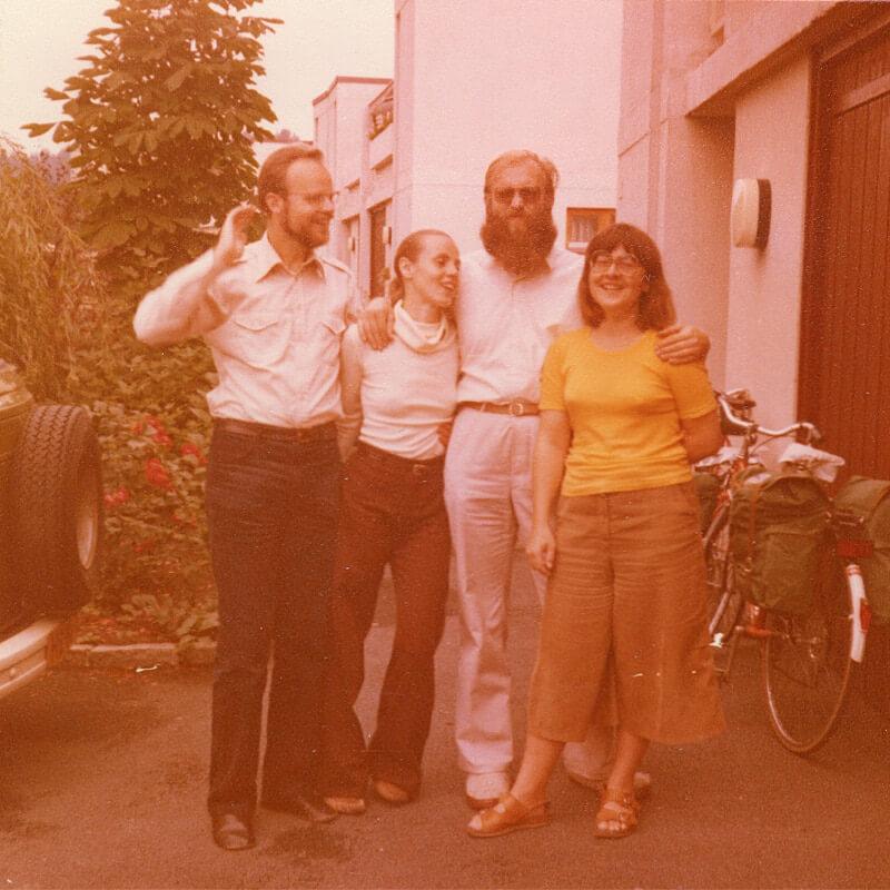 Pieter, Nel, Jaap en Margreeth (Oslo, augustus 1979)